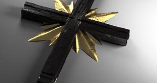 Cross ebony gold watch