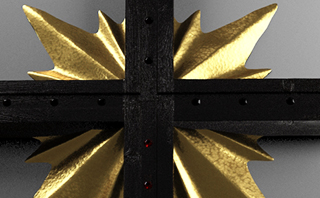 Cross ebony and gold men's watch