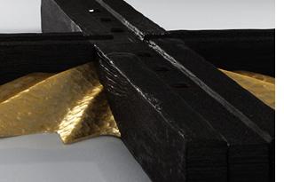 Closeup of men's watch 'Cross: Ebony and Gold'