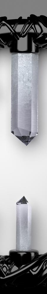 Crystal watch, closeup